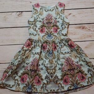 Chicwish Blue Embroidered Floral Dress Sz S (R